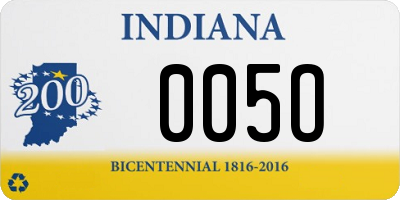 IN license plate 005O