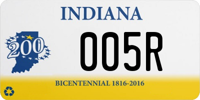 IN license plate 005R