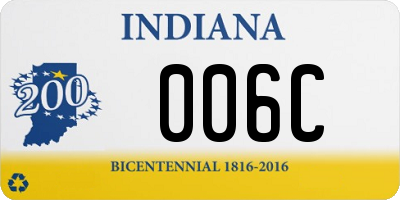 IN license plate 006C