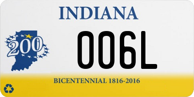 IN license plate 006L