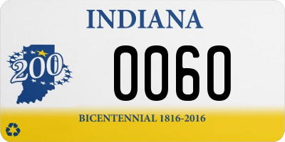 IN license plate 006O