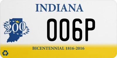 IN license plate 006P