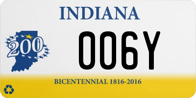 IN license plate 006Y