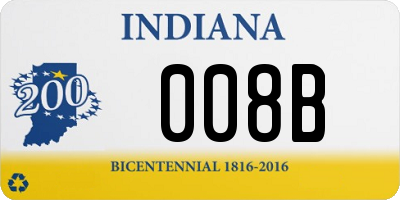 IN license plate 008B