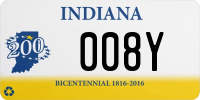 IN license plate 008Y