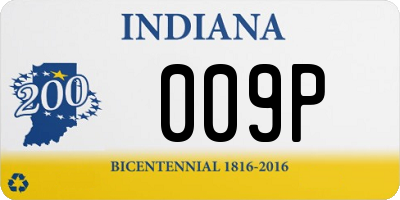 IN license plate 009P