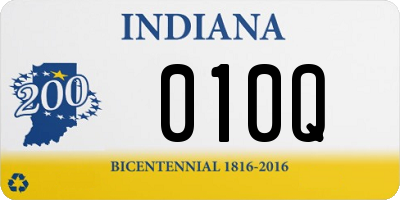 IN license plate 010Q