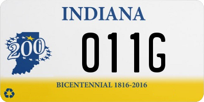 IN license plate 011G