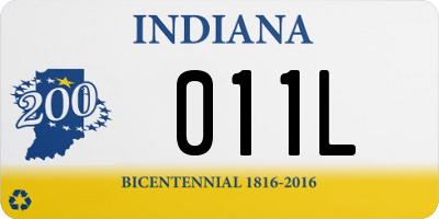 IN license plate 011L
