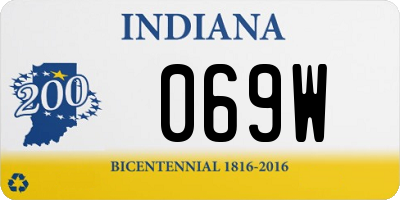 IN license plate 069W