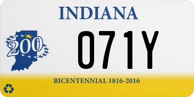 IN license plate 071Y