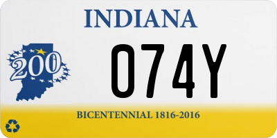 IN license plate 074Y