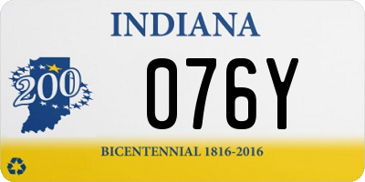 IN license plate 076Y