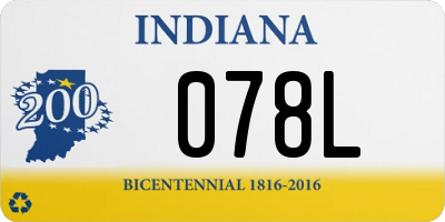 IN license plate 078L