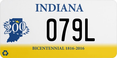 IN license plate 079L