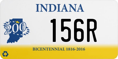 IN license plate 156R