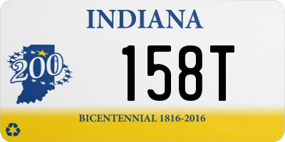 IN license plate 158T