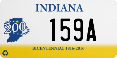 IN license plate 159A