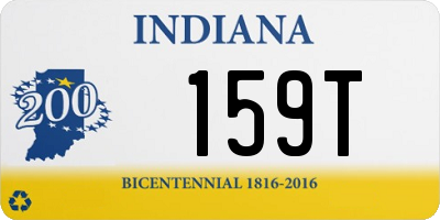 IN license plate 159T
