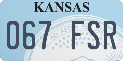 KS license plate 067FSR