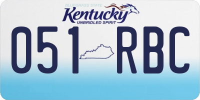 KY license plate 051RBC