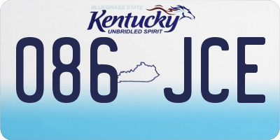 KY license plate 086JCE