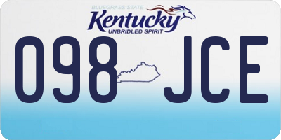 KY license plate 098JCE