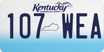 KY license plate 107WEA
