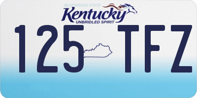 KY license plate 125TFZ