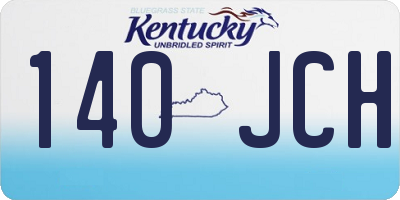 KY license plate 140JCH