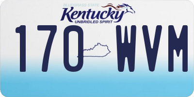 KY license plate 170WVM