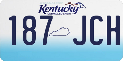 KY license plate 187JCH