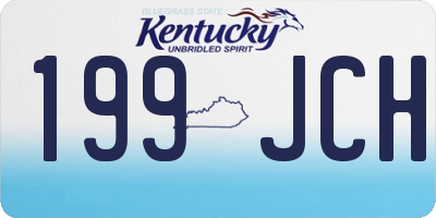 KY license plate 199JCH