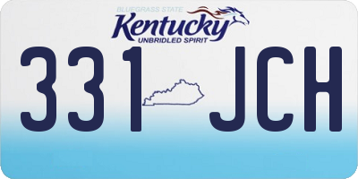 KY license plate 331JCH
