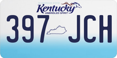 KY license plate 397JCH