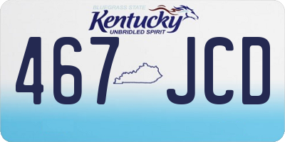 KY license plate 467JCD