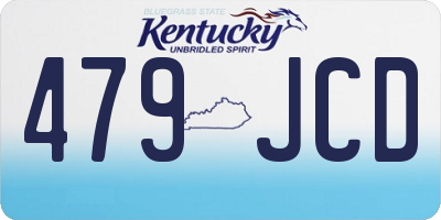 KY license plate 479JCD