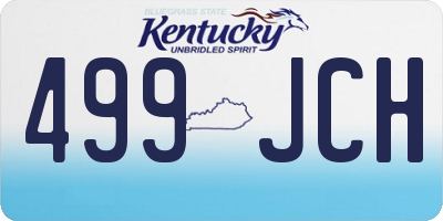 KY license plate 499JCH