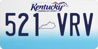 KY license plate 521VRV