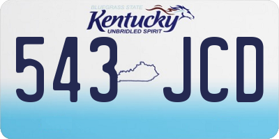 KY license plate 543JCD
