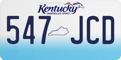 KY license plate 547JCD