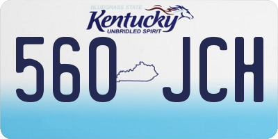 KY license plate 560JCH
