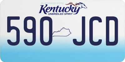 KY license plate 590JCD