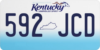 KY license plate 592JCD