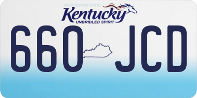 KY license plate 660JCD