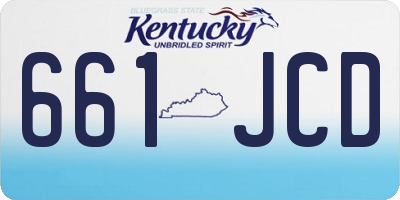 KY license plate 661JCD