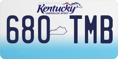 KY license plate 680TMB