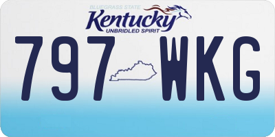KY license plate 797WKG