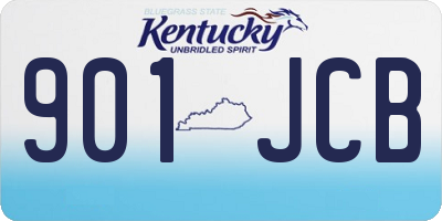 KY license plate 901JCB