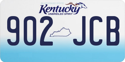KY license plate 902JCB